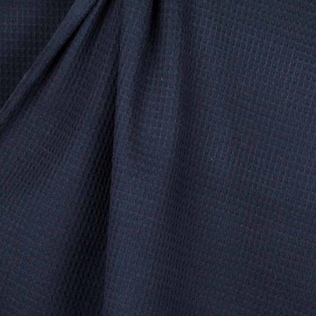 Tissu nid d'abeille - Bleu marine