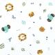 Tissu coton amis de la jungles - Multicolore