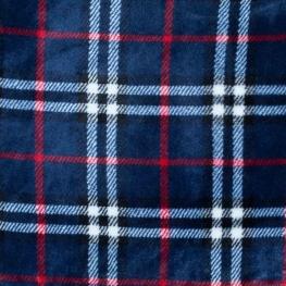 Tissu polaire écossais - Bleu marine