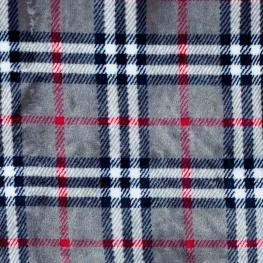 Tissu polaire écossais - Gris