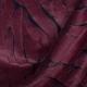 Tissu fausse fourrure de luxe bicolore - Bordeaux & noir