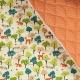 Tissu matelassé forêt & étoiles asahona - Orange