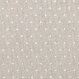 Tissu coton mini étoiles - Beige & ivoire
