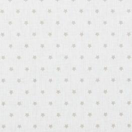 Tissu coton mini étoiles - Ivoire & beige