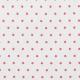 Tissu coton mini étoiles - Blanc & rouge