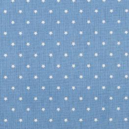 Tissu coton mini étoiles - Bleu & blanc