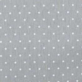 Tissu coton mini étoiles - Gris & blanc