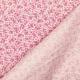 Tissu coton fleuri bicolore - Blanc & rose