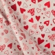 Tissu coeur patchwork - Rouge