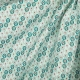 Tissu coton plume de paon - Vert d'eau
