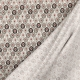 Tissu coton plume de paon - Gris