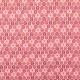 Tissu coton enduit plume de paon - Rouge