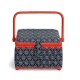 Boite à couture tissu carré Kyoto, taille M