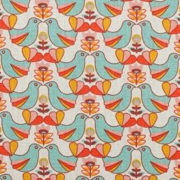 Tissu coton enduit birdy & holly - Oiseaux