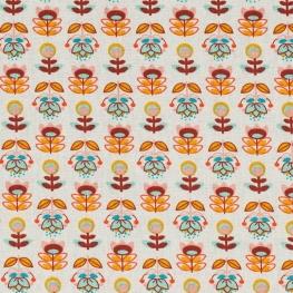 Tissu coton enduit birdy & holly - Fleurs