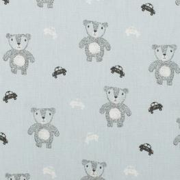 Tissu coton cute bears - Bleu