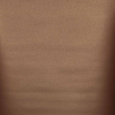 Coupon simili cuir uni, 50 x 140 cm - Cuivré