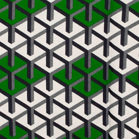 Tissu Wax véritable - Bleu & vert
