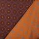 Tissu jacquard type Wax - Rouge