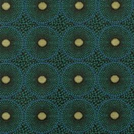 Tissu jacquard type Wax - Bleu