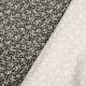 Tissu coton enduit fleuri - Noir & blanc