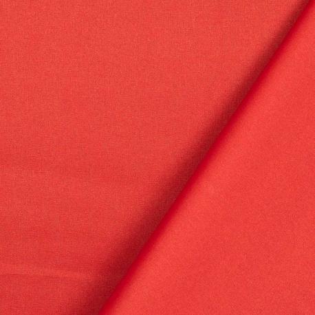 Tissu coton enduit uni - Rouge