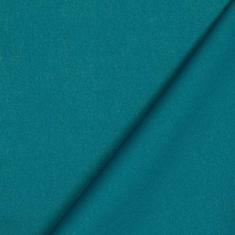 Tissu coton enduit uni - Bleu canard