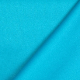Tissu coton enduit uni - Bleu turquoise