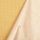 Tissu coton cretonne éventails - Moutarde