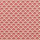 Tissu coton cretonne éventails - Rouge cramoisi