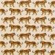 Tissu coton cretonne tigre - Fauve