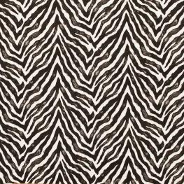 Tissu coton cretonne zèbre - Noir & blanc