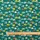 Tissu coton cretonne forêt - Bleu canard
