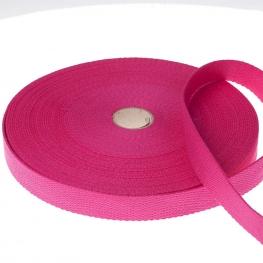 Ruban sangle coton, rouleau de 20 mètres - Rose fuchsia