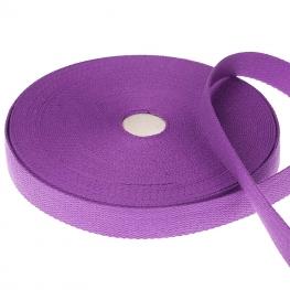 Ruban sangle coton, rouleau de 20 mètres - Violet