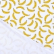 Tissu jersey fruits bananes - Jaune