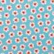 Tissu petit fleuri - Bleu