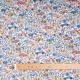 Tissu coton fleur & voiture vintage - Multicolore