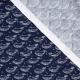Tissu coton magnifique baleine - Bleu marine
