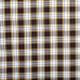 Tissu viscose écossais tartan - Noir, vieux jaune & rouge