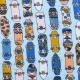 Tissu jersey cool skateboards - Bleu ciel