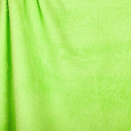 Tissu éponge uni Okeo-Tex - Vert citron vert