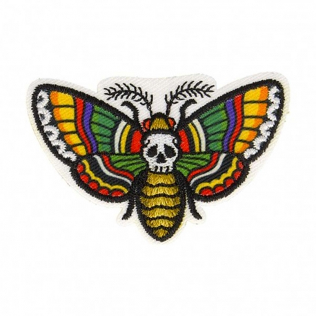 Ecusson papillon sphinx tête de mort - Multicolore