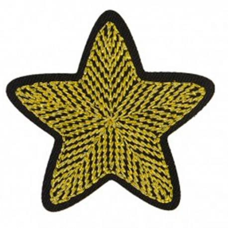 Ecusson étoile - Or & noir