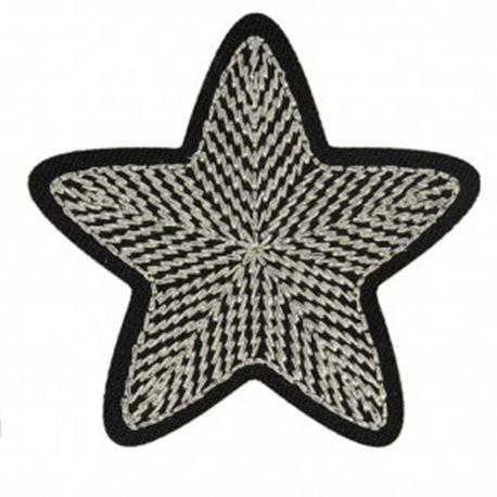 Ecusson étoile - Argent & or