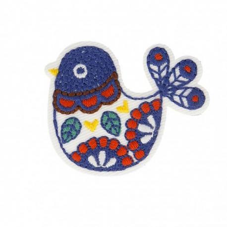 Ecusson scandy oiseaux - Multicolore