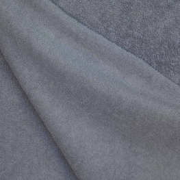 Tissu éponge uni Oeko-Tex - Gris anthracite