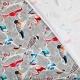 Tissu jersey parade d'oiseaux - Multicolore