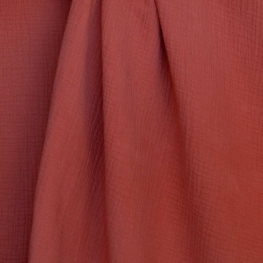 Tissu coton double gaze - Rouille