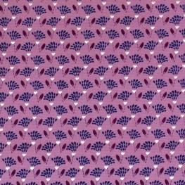 Tissu petites fleurs et dorure - Vieux rose